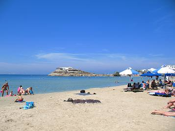 Saint George Beach in Naxos Town